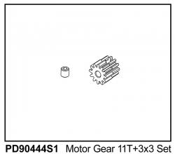 KAISER XS Motor-Ritzel Modul 0,6, 11 Zähne Thunder Tiger PD90444S1