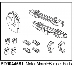 KAISER XS Motor-Halterung u. Stoßstangen-Teile, Kunststoff Thunder Tiger PD90445S1
