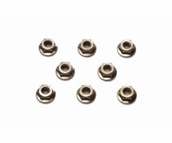 TRF Radmuttern 4mm geriffelt (8) schwarz Tamiya 42282 300042282
