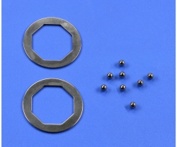 F104 Kugeln/Druckplatten-Satz 3mm (8)Kd. Tamiya 51347 300051347