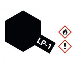 LP-1 Schwarz glänzend 10ml (VE6) Tamiya 82101 300082101