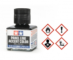 Panel Accent Color Schwarz 40ml Tamiya 87131 300087131