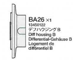 Differenzial-Gehäuse B BA26 58431 Tamiya 3450122 303450122