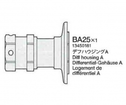 Differenzial-Gehäuse A BA25 58431 Tamiya 3450181 303450181