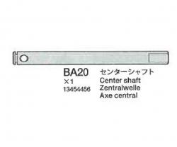 Center Shaft (BA1 8) Tamiya 3454456 303454456
