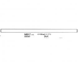 ACHSE 4X95 MM Tamiya 3555057