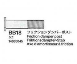 Reibungsdämpfer-Pfosten (BB18) 58431 Tamiya 4035045 304035045