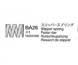 Feder f. Doppel-Slipper-Set 54061 DB-01 Tamiya 5005188 305005188