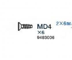 Schraube 2x6mm 2x Tamiya 9483006