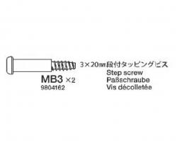 SCHNEIDSCHRAUBE 3X20MM (10) Tamiya 9804162