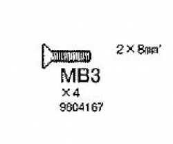 SENKKOPFSCHRAUBE 2X8 MM Tamiya 9804167