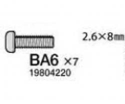 Schraube 6x8mm,2x Tamiya 9804220