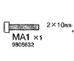 ZYLINDERKOPFSCHRAUBE 2X10MM Tamiya 9805632