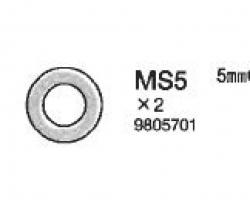 5MM O-RINGE (2) Tamiya 9805701