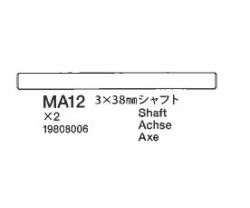 Welle 3x38mm Tamiya 9808006