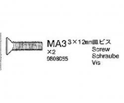Senkkopfschraube 3x12mm Tamiya 9808055