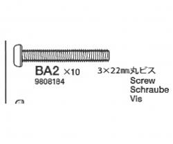Schraube 3x22mm Tamiya 9808184