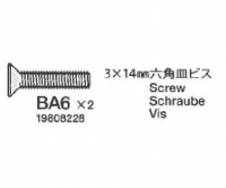 Schraube, flach 3x6 mm (5) Tamiya 9808228 309808228