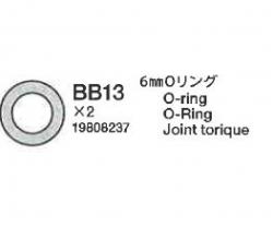 O-Ring 6 mm BB13 (2) 58431 Tamiya 9808237 309808237