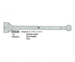 TRF511 Antriebs-Halbwelle 64mm (2) 54118 Tamiya 9808221 319808221