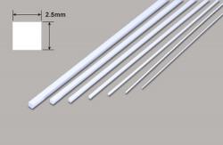 Vierkant- Mikrostäbe - 2.5 x 2.5 x 250mm Plastruct
