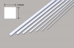 Vierkant - Mikrostäbe - 3.2 x 3.2 x 250mm Plastruct