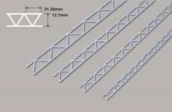 Leiterträger diagonal-12.7 x 21.30x 300mm Plastruct
