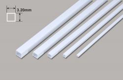Vierkant Kunstoffrohr - 3.20 x 3.20 x 375mm Plastruct
