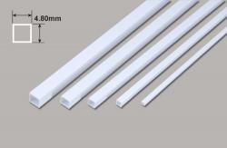 Vierkant Kunststoffrohr - 4.80 x 4.80 x 375mm Plastruct