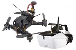 XciteRC FPV Racing-Quadrocopter F210 RTF - FPV-Drohne mit Sony HD-Kamera, OSD, Videobrille Goggle V4, Akku, Ladegerät und DEVO 7 Fernsteuerung Walkera