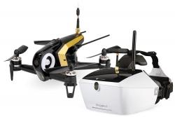 Walkera FPV Racing-Quadrocopter Rodeo 150 RTF schwarz - FPV-Drohne mit HD-Kamera, Goggle V4 Videobrille, Akku, Ladegerät und DEVO 7 Fernsteuerung Walk