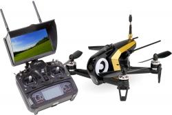 Walkera FPV Racing-Quadrocopter Rodeo 150 RTF schwarz - FPV-Drohne mit HD-Kamera, FPV-Monitor, Akku, Ladegerät und DEVO 7 Fernsteuerung Walkera 150044