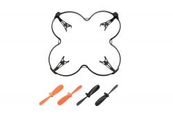 Crashset Rocket 65XXS schwarz/orange (Rotorblätter, Rotorschutzbügel) XciteRC 15008006
