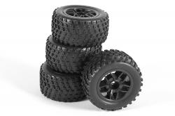 Räder für Truggy Twenty4 TR komplett (4) XciteRC 30600024