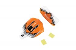 Karosserie und Flügel  für High-Speed Racebuggy 2WD RTR orange/ weiß/ silber XciteRC 30801016