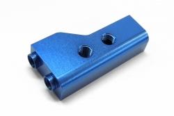 KM-Racing H-K1 EVO2 Aluminium Radioplattenhalter links (blau) KM-Racing 31301086