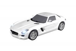 Teknotoys Mercedes-Benz SLS weiß Slot-Car 1:43 Teknotoys 39001001