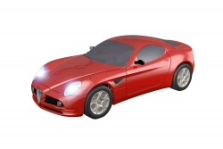 Teknotoys Alfa Romeo 8C rot Slot-Car 1:43 Teknotoys 39001004