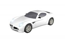 Teknotoys Alfa Romeo 8C weiß Slot-Car 1:43 Teknotoys 39001005