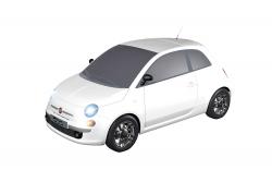 Teknotoys Fiat 500 weiß Slot-Car 1:43 Teknotoys 39001007