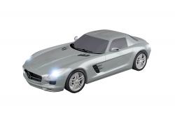 Teknotoys Mercedes-Benz SLS silber Slot-Car 1:43 Teknotoys 39001012