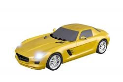 Teknotoys Mercedes-Benz SLS gelb Slot-Car 1:43 Teknotoys 39001022