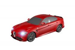 Teknotoys Alfa Romeo Giulia rot Slot-Car 1:43 Teknotoys 39001024