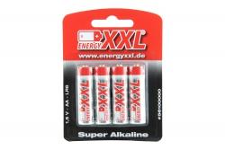 energyXXL Mignon Batterien Typ AA Super Alkaline 1,5V 4 Stück energyXXL 56100000