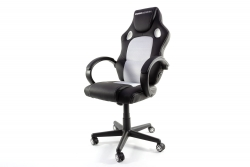 MOMO Design Gaming Chair Bürostuhl Chefsessel GC-002 mit Bluetooth Sound weiß/schwarz MOMO-Design 83000010