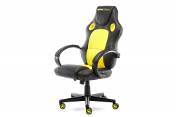 MOMO Design Gaming Chair Bürostuhl Chefsessel GC-002 mit Bluetooth Sound gelb/schwarz MOMO-Design 83000013