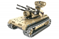 Teknotoys Active Bricks RC Flugabwehrpanzer - Konstruktionsbaukasten mit Fernsteuerung Teknotoys 85000021