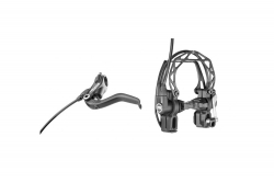 MAGURA HS33 schwarz, 4-Finger Hebel, links/rechts verwendbar, 2.000 mm Leitungslänge, Einzelbremse (VE= 1 Stück) Magura 87010739