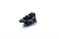 MAGURA Bremszange MT5 ABS, schwarz, Laserung silber, drehbarer Leitungsanschluss, mit Bremsbelägen (VE = 1 Stück) Magura 87010743