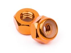 Aluminium Stoppmutter M4 Orange (10St) HPI Z868